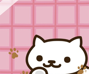 wallpaper, neko atsume, and cat image