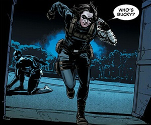 comic, Marvel, and winter soldier image