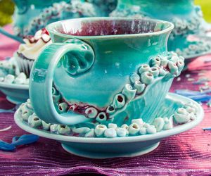 sea color, mermaid tea, and mermaid mug image