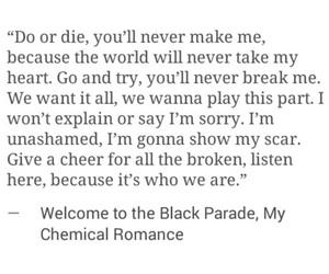 Lyrics, mcr, and my chemical romance image