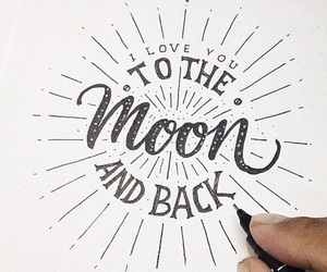 moon, art, and quotes image