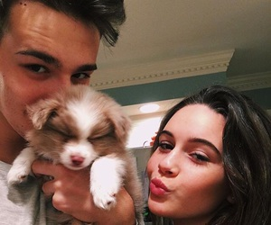 jacob whitesides, bea miller, and puppy image