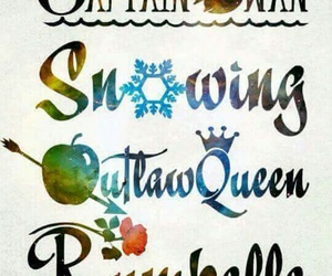 snowing, rumbelle, and once upon a time image