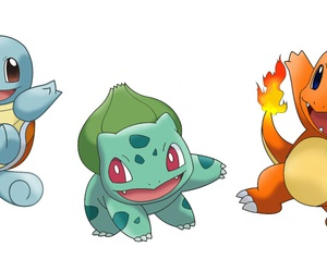 bulbasaur, charmander, and squirtle image