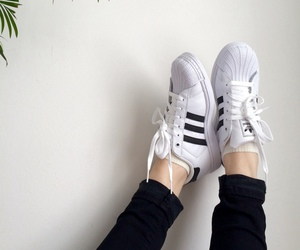 adidas, white, and pale image