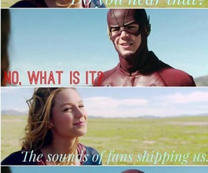 Supergirl, crossover, and the flash image
