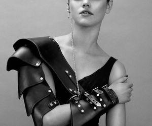 black and white, dark, and fashion image