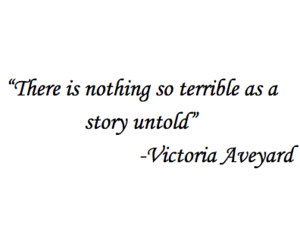 quote, story, and red queen image