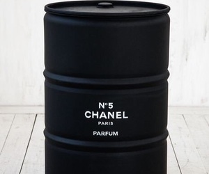 chanel, black, and parfum image