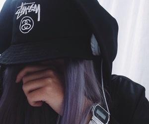 bad girl, hat, and bucket image