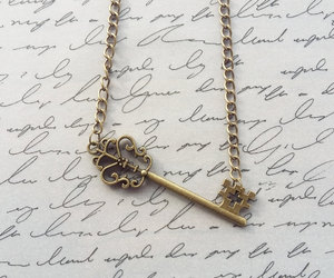 etsy, vintage style, and steampunk necklace image