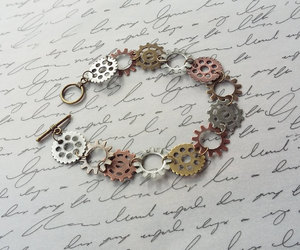 etsy, handmade jewelry, and cogs and gears image