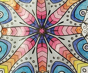 art, kaleidoscope, and color image