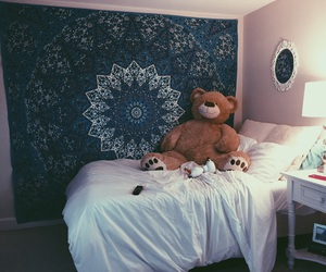 bedroom, blue, and goals image