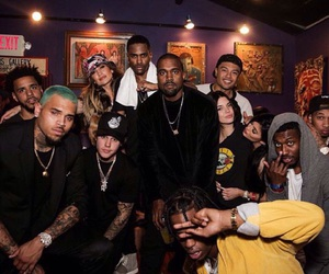 chris brown, justin bieber, and tyga image
