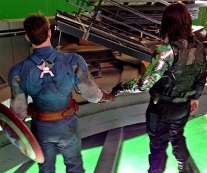 captain america, winter soldier, and bucky barnes image