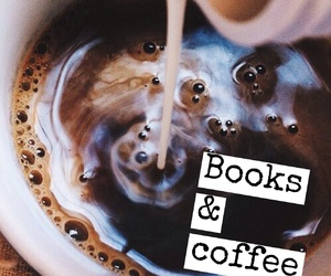 books, coffee, and quote image