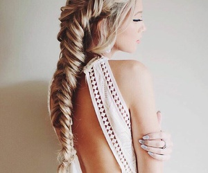 accessories, blonde, and braiding image