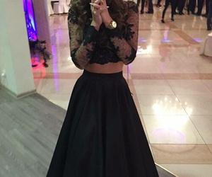 black, dress, and beautiful image