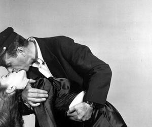 couple, kiss, and Lauren Bacall image