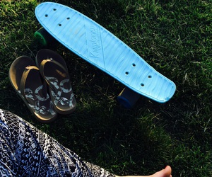 beach, blue, and board image