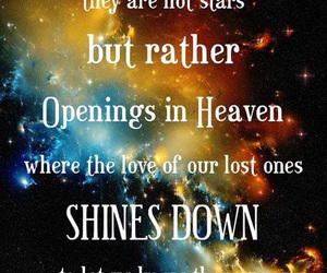 heaven, stars, and loved ones image
