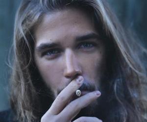 smoke, boy, and cigarette image