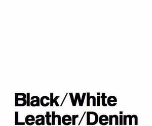 leather, black, and denim image