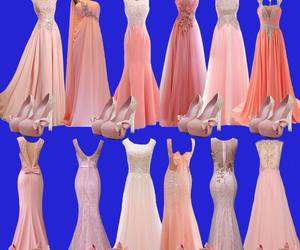 coral, dresses, and fashion image