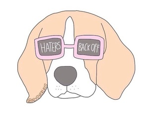 dog, wallpaper, and haters image