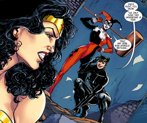 catwoman, comics, and harley quinn image