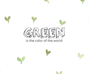 green, meaningful, and quote image