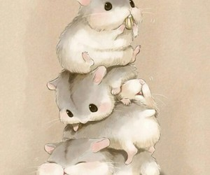 cute animals and drawing image