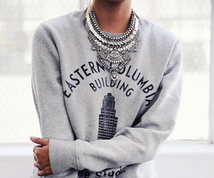 fashion, outfit, and necklace image