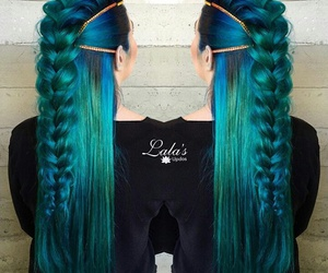 blue, green, and perfect hairstyles image