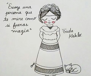 love, frida kahlo, and magia image