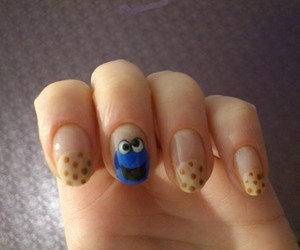 nails, cookie monster, and Cookies image