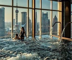 pool, luxury, and couple image