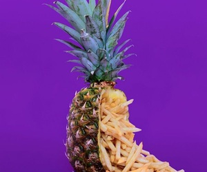 pineapple, purple, and aesthetic image