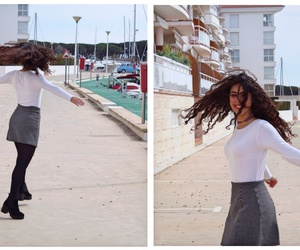 brunette, curly, and dance image