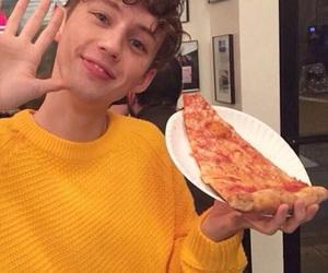 troye sivan, pizza, and yellow image
