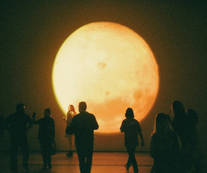 moon and people image