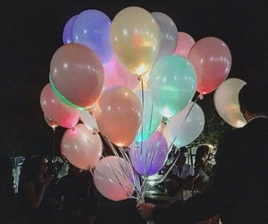 balloons and night image