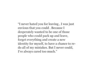 him, leaving, and love quotes image