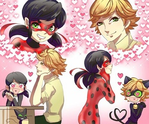Chat Noir, ladybug, and marinette image