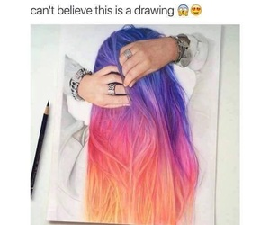 drawing, amazing, and hair image