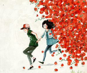 love, art, and red image