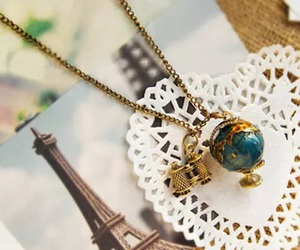 paris, necklace, and france image