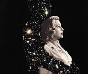 love, stars, and woman image