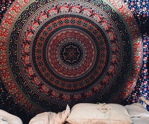 bedroom, boho, and hipster image